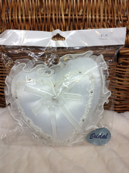 Satin Heart Ring Cushion